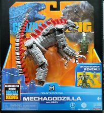 "Playmates Monsterverse Godzilla vs Kong MECHAGODZILLA WITH HEAV 6"" Figure Rare"