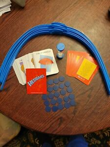 hedbanz game Replacement Parts. Timer, Headbans, Blue Chips, Cards.