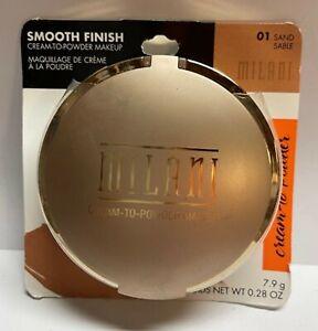 MILANI smooth finish CREAM-TO-POWDER MAKEUP 01 Sand *SEALED*