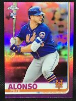 Pink! 2019 Topps Chrome Pete Alonso RC Pink Refractor Rookie RC #204