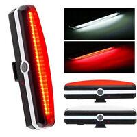 Fahrradrücklicht USB Aufladbares Rücklicht Superheller LED COB Warnlampe 2stück