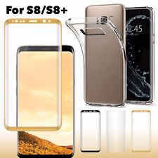 For Samsung Galaxy S8 Screen Protector Tempered Glass 3D Curved Glass Shield
