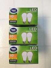 6 Pack LED 40W = 7W Soft White DIMMABLE 60 Watt Equivalent 2700K SweetHome best