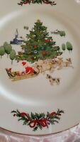 Country Christmas Collection by Jay Made in Japan Complete Plate set of 8 NEW!!