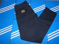LOIS MENS BLUE JEANS CANVAS 36 waist 34 leg NEW CASUALS RECTO GRECO 80s