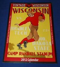 U of Wisconsin Badgers Football Calendar 2012 Vintage Game Day Program Cover Art