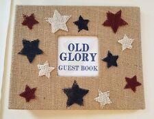 Rustic American Guest Book Set- Guestbook Burlap Rental Sign Home Gift Agent