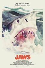 Jaws Movie Poster 24x36 Giclee Variant Tony Stella #/100