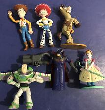 Lot of (6) Disney Pixar TOY STORY Figure Character Toys Woody Buzz Bullseye Zurg