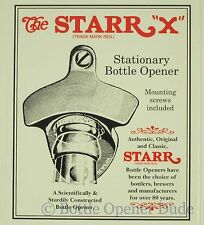 PABST BLUE RIBBON Combo Bottle Cap Starr X Wall Mount Bottle Opener  Cap Catcher