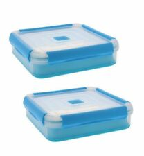 2 Airtight Lunch Cube Container Microwave Safe Food Store Box Salad Set 14 Cup