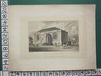 1830 Datato Antico Yorkshire Stampa ~ Vista Di Grammer Scuola Presso Bradford