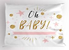Oh Baby Pillow Sham Decorative Pillowcase 3 Sizes Bedroom Decoration