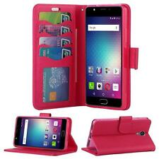 For BLU Life One X2 L0090UU Leather Wallet Flip Card Slot Cover + Screenguard
