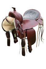 """TN Saddlery Plantation Pleasure Gaited Western Leather Saddle 15"""" 16"""" 17"""" 18"""""""