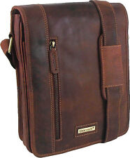 UNICORN Real Leather iPad, Kindle, Tablets & Accessories Messenger Bag Tan #7K