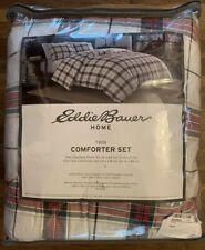 Eddie Bauer Riverdale Plaid Comforter Set, Twin, Red White Green