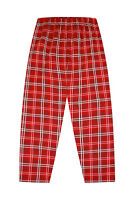 Mens LOUNGE BOTTOMS Long Black Red Woven Check Cotton Men's Pj Loungewear
