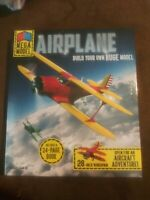"MEGA MODEL AIRPLANE KIT Build your own BEECHCRAFT Biplane Model 28"" Wingspan"