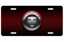 Jaguar Aluminum Metal Car Auto License Plate Tag Abstract Art New British Red