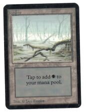 Swamp Version 1 - ALPHA Edition - Old School -  MTG Magic The Gathering