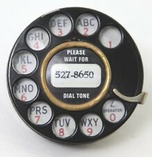 Northern Electric Rotary Telephone Black Dial Complete Assembly 5H