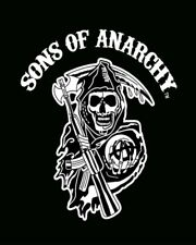 Sons Of Anarchy SOA FX Black White Reaper Faux Fur Mink Queen Size Blanket NEW
