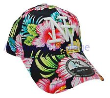 Casquette NY New York snapback fleurie hibiscus visière arrondie hip hop neuf