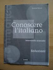 Conoscere L'Italiano: Soluzioni 2 intermedio-avanzato. Collective Paperback 2002