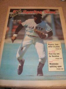 July 1971 The Sporting News - Willie Mays San Francisco Giants HOF Slugger