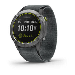 Garmin Enduro™ Steel with Grey UltraFit Nylon Strap  Part Number: 010-02408-00