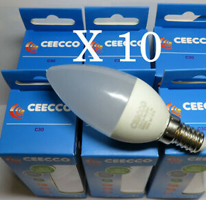 10 ampoules LED 3,5W E14  3000K Flamme
