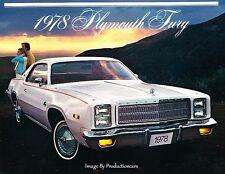 1978 Plymouth Fury 12-page Original Car Sales Brochure Catalog