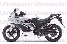 White Black Grey Injection Fairing for 2008-2012 Kawasaki Ninja 250R EX250