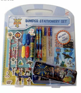 Disney Pixar Toy Story 4 Bumper Stationary 50+ Pieces Set Woody Buzz & Gang NEW