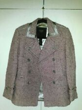 Coach AUTHENTIC pink speckled wool w/satin jacket Size 2