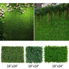 "10pcs Artificial Grass Turf Tiles 24"" x 16"" 10"" x 10"" Screens Fence Panel 1.5"" H"
