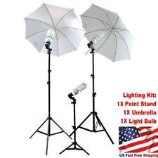 Studio Photography Lighting Kit 1Point Stand Lighting Umbrella Photo Bulb Lamp L