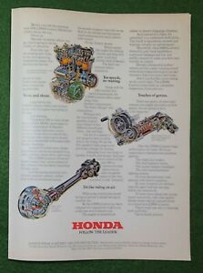 1970s magazine Ad car auto automobile HONDA Follow the Leader mancave garage