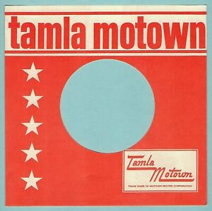 TAMLA MOTOWN (orange/white) REPRODUCTION RECORD COMPANY SLEEVES - (pack of 10)