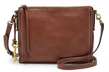 FOSSIL Cross Body Bag Emma EW Crossbody Brown