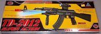 TD-2012 Kids Toy Military Assault Rifle Gun with Flashing Lights Sound Vibration