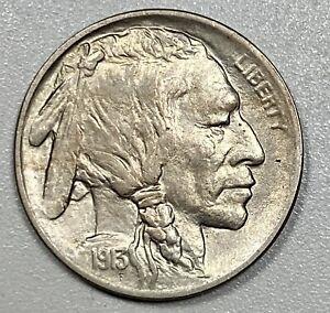 1913 Buffalo 5C Nickel Type 1 Uncirculated
