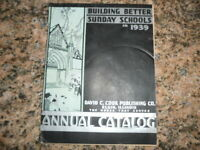 1939 Building Better Sunday Schools Annual Catalog by David C. Cook Publishing