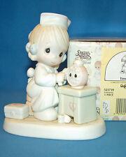 Precious Moments Figurine Mint In Box Time Heals Heart Mark 1990 Mfr # 523739