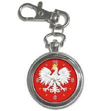 POLISH EAGLE POLAND POLSKA FLAG KEYCHAIN WATCH **FANTASTIC ITEM**
