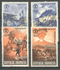 INDONESIA 1967 ZBL SERIE 595 VOLCANO VULKAAN MNH