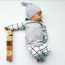 3 PZAS Set Recién nacido Infantil Bebé Niña Niño Trajes Ropa Camiseta +Pantalón