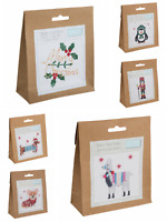 Christmas Counted Cross Stitch Kit - Beginners/Childrens Starter - Trimits