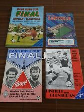 Joblot of 4 Linfield (Bass Irish Cup Programmes) 83, 85, 85, 86